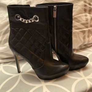 Michael Kors Black quilted booties